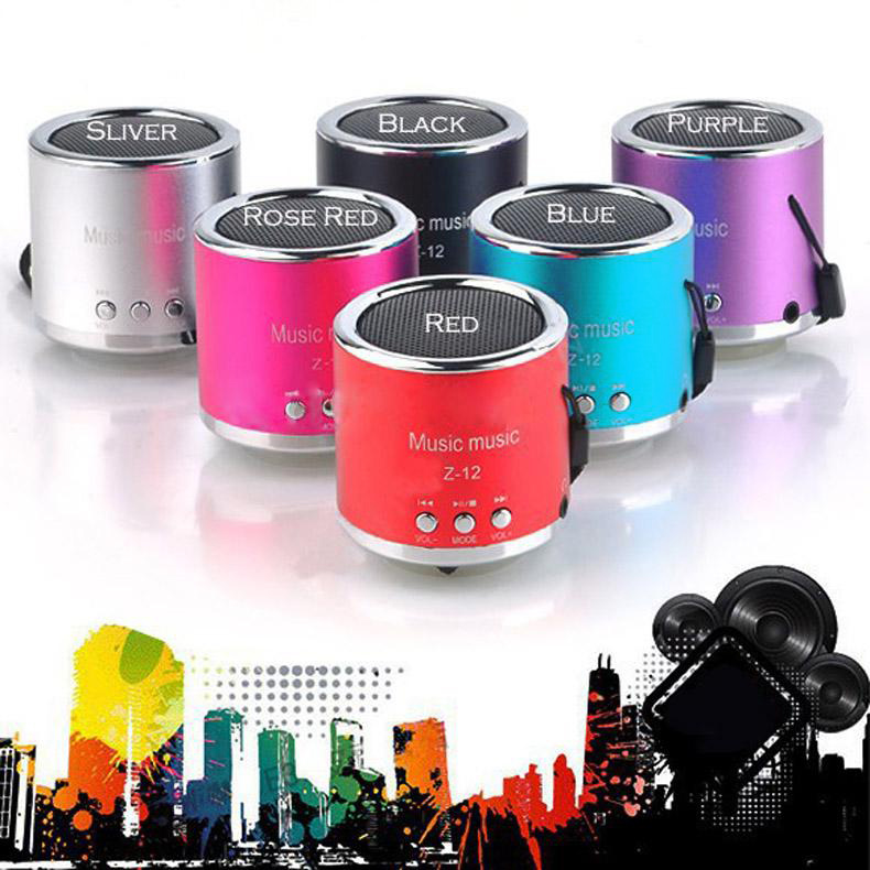 Handfree Wired Portable Mini Speaker Subwoofer FM Radio USB Micro SD TF Card MP3 Player(China (Mainland))