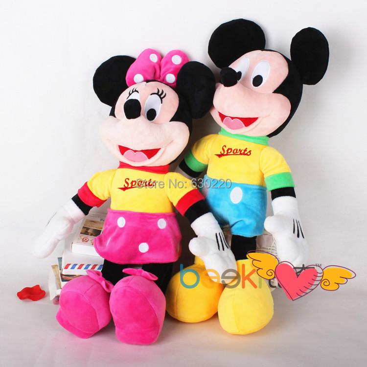 design 45cm Mickey Mouse Minnie Plush Toys Set animal Doll Kid Christmas gift - Green Dor store