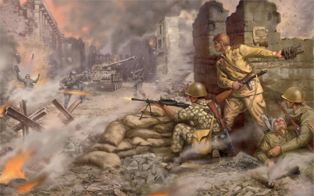 Art-World-War-II-WW2-War-font-b-Soviet-b