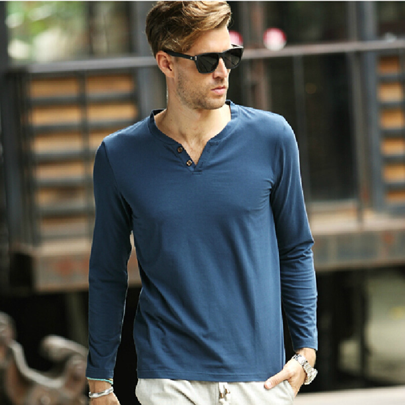 Buy nachuan long sleeves solid t shirt for Full sleeves t shirts for men