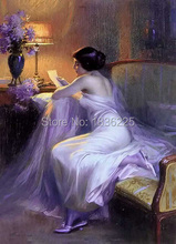 Canvas Oil Painting wall art Beautiful naked women Western sex pictures Pictures of naked girls oil paintings for bedroom decor(China (Mainland))