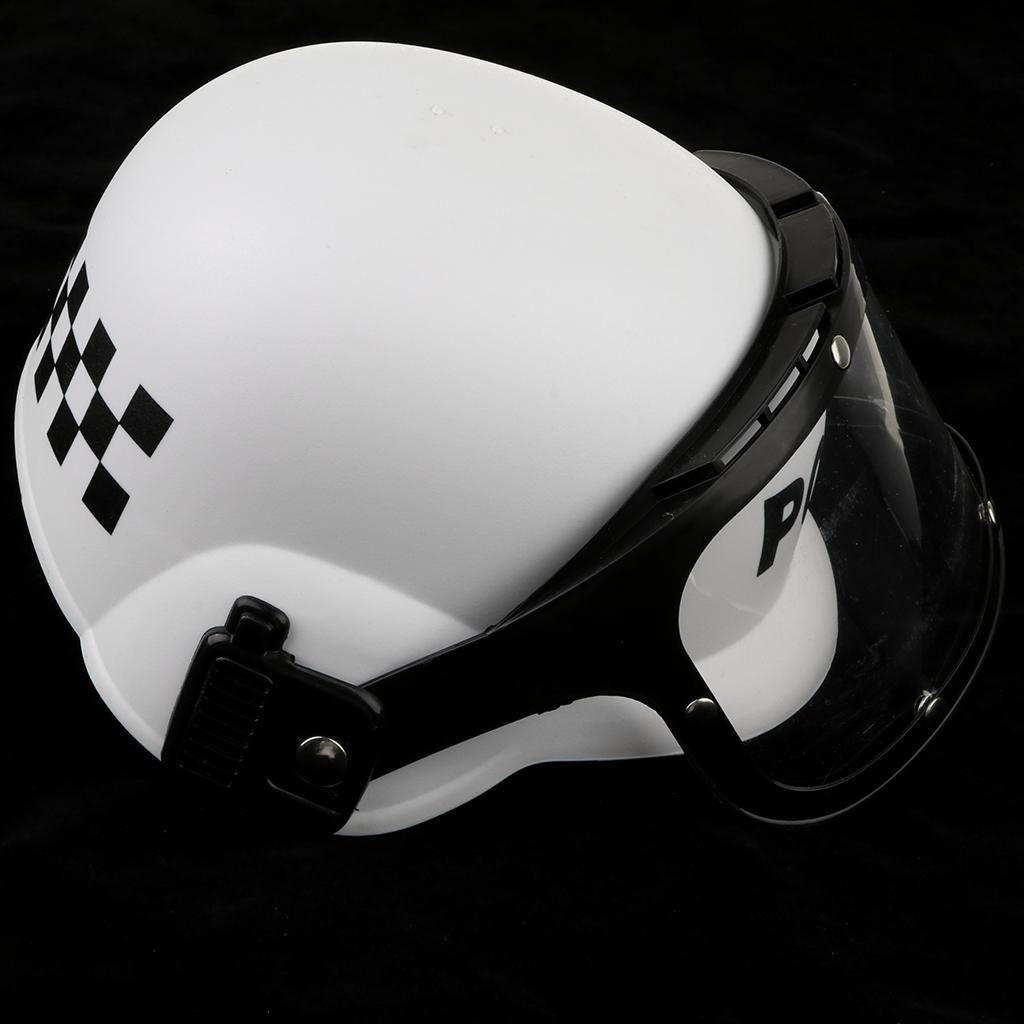 5 Piece Kids Toy Police Dress Up Play Set Officer Costume Handcuff Helmet Baton