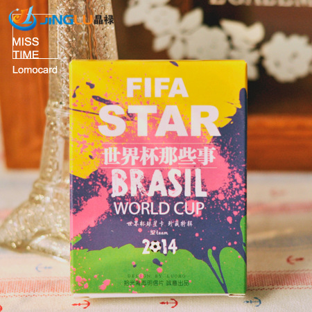 28 Pcs / Pack ,[ Optical Pickup ] World Cup Q Edition Hand-Painted World . Cup Football Card Lomo Card Message Card <br><br>Aliexpress