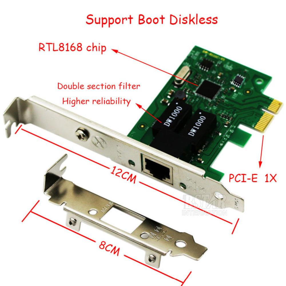 1000Mbps Gigabit Ethernet PCI Express PCI-E NIC RTL8168 Network Card RJ-45 RJ45 LAN Adapter Converter Network Controller(China (Mainland))