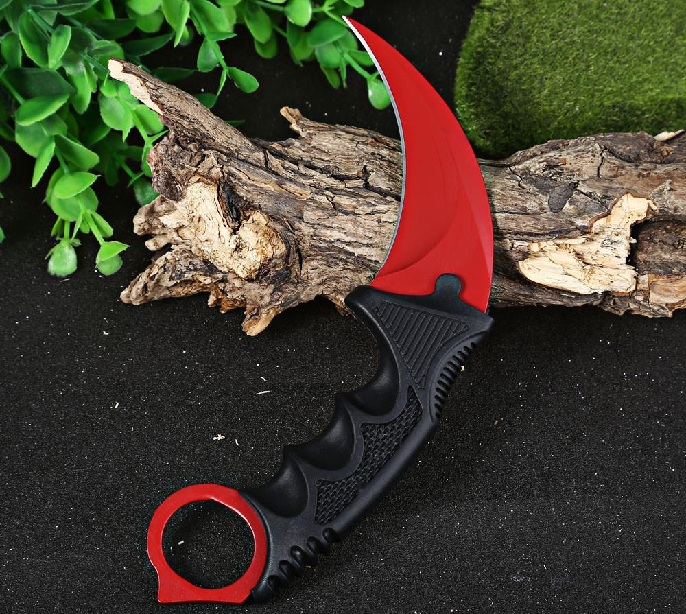 Buy Counter Strike Karambit Knife Tactical Survival Tool Stainless Steel Sharp Blade For Camping Hiking Climbing cheap