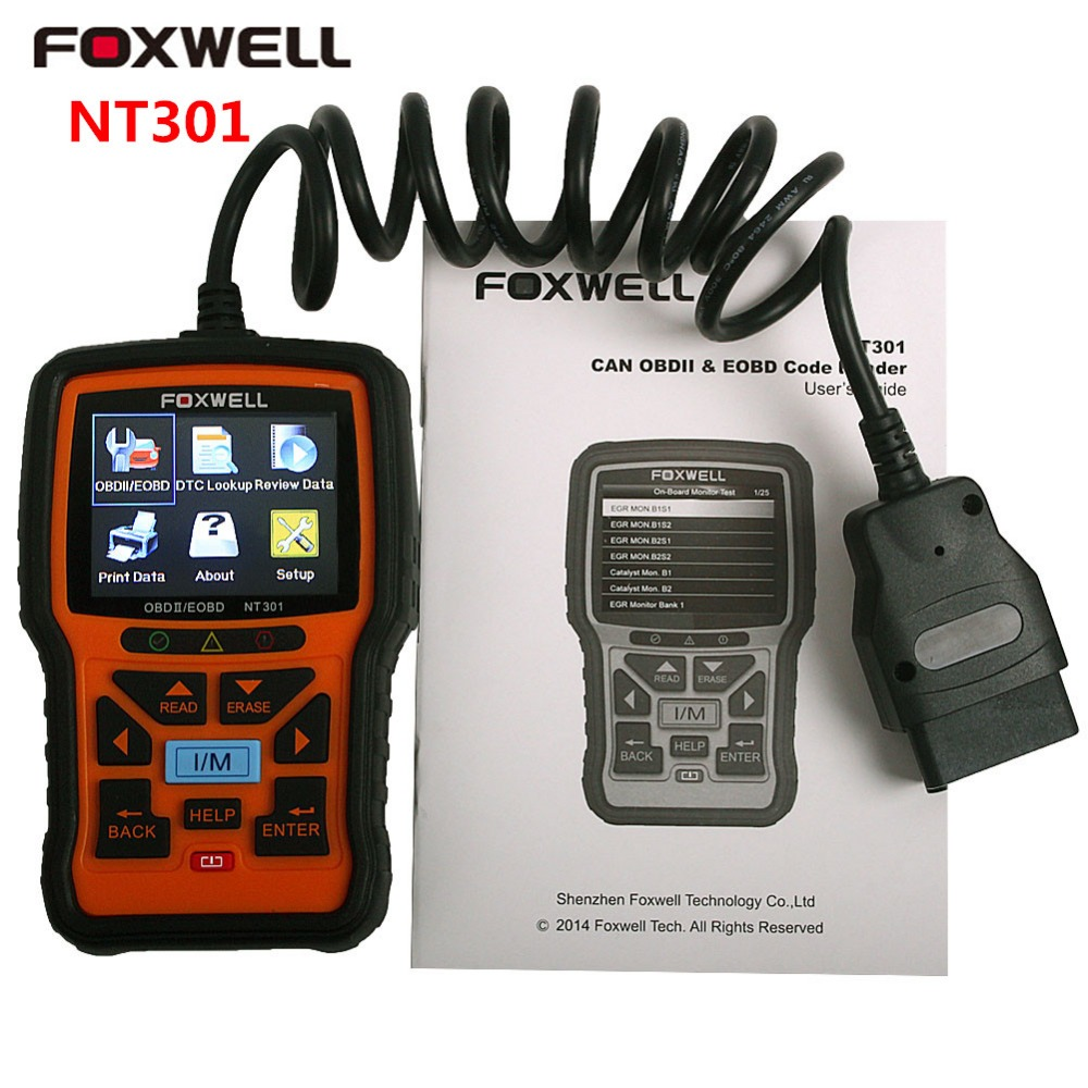 Foxwell CAN OBD2 EOBD Car Fault Code Reader NT301 Cars Diagnostic Scanners Automotive Tool OBD 2 Scanner Automotivo Universal<br><br>Aliexpress