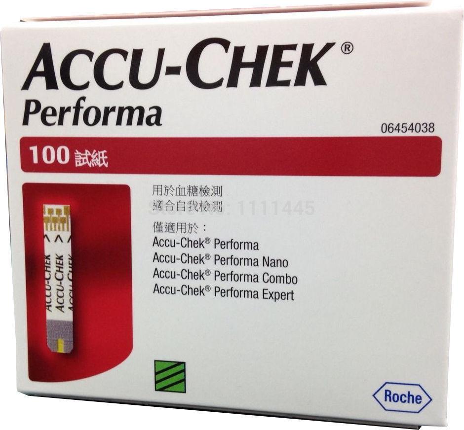 Тест на содержание глюкозы в крови ACCU-CHEK 02.2016 accu/chek Performa 100 + Lancents 100 Performa Dynamic