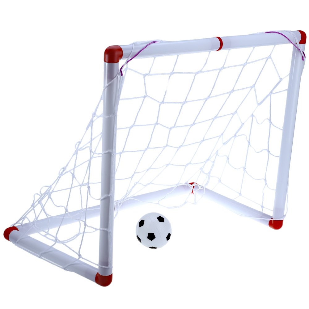 Hot Sale Portable 24 inches Simple Mini Football Soccer Goal Post Net Set Pump Indoor Kids Toy+1 Hand Pump With Inflating Needle(China (Mainland))