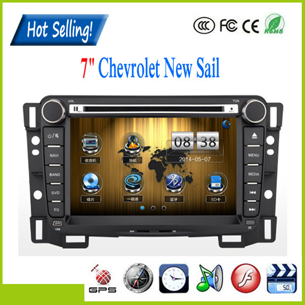 7'' 2Din Car DVD Player Car electronic system with GPS navigation for CHEVROLET SAIL Built-in AM/FM radio Free shipping!!(China (Mainland))