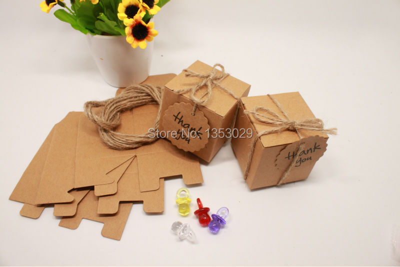 Kraft Paper Wedding Candy Box Vintage Wedding Decoration Rustic Wedding Centerpieces Event Party Supplies Baby Shower (22)