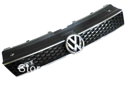GTI Honeycomb Grille With Car Styling Chrome Line For Volkswagen For VW Polo 6R(China (Mainland))
