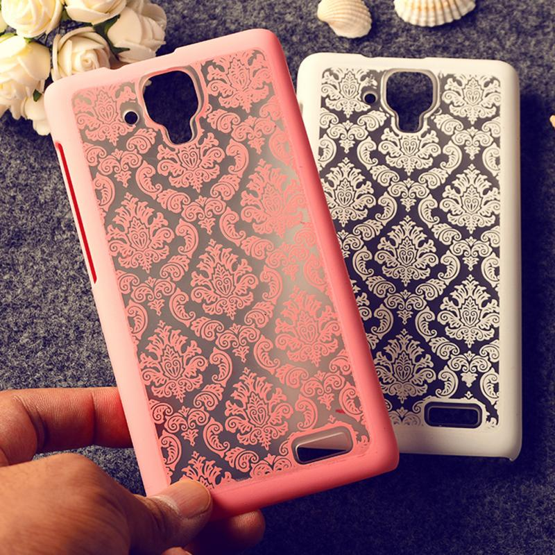 Fashion Mobile Phone Pure Color Case Elegant Court Style Paper-Cutting Pattern slim back cover case For LENOVO A536(China (Mainland))