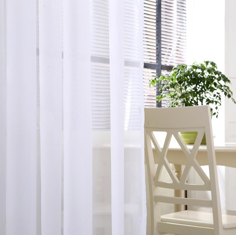 Online buy wholesale plain white curtains from china plain for Cheap plain white wallpaper