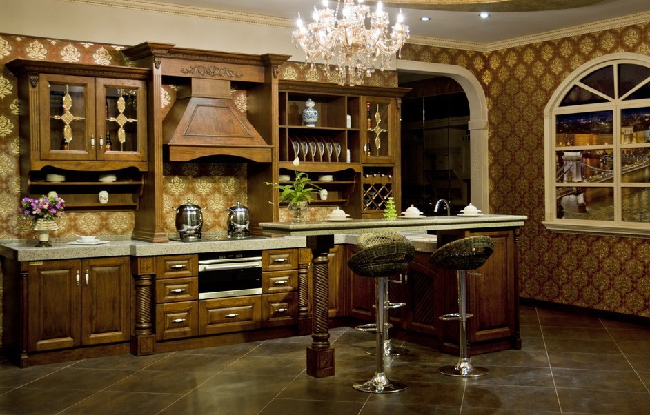 Customied American solid wood cabinet America integral ambry ktichen cabinet(China (Mainland))