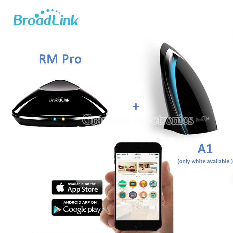 Гаджет  Broadlink RM Pro WiFi Smart Home Universal Remote+Smart Automation App controlled temperature&humidity Wifi environment detector None Электротехническое оборудование и материалы