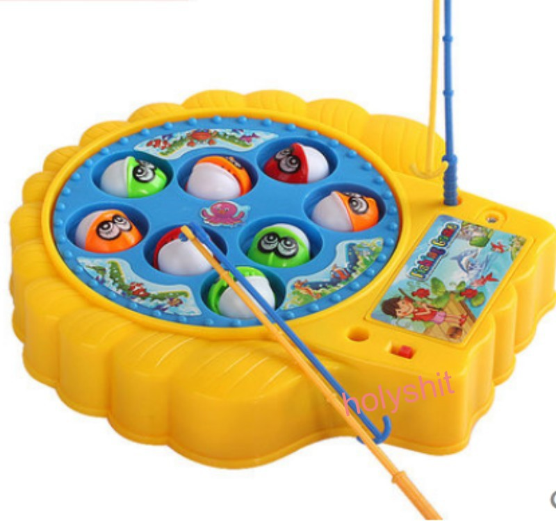 fishing toy best baby toy 8 fish Electric Fish best gift for 4 Kids Children Educational Toy with music(China (Mainland))