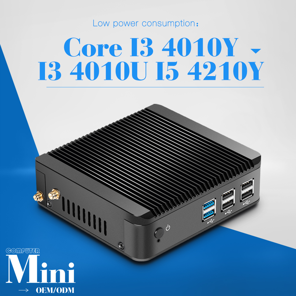 Core i3 i5 Windows 8.1/7/Linux Desktop Computer for office Mini computer 4010Y/4210Y/4010U CPU options support HD player(China (Mainland))