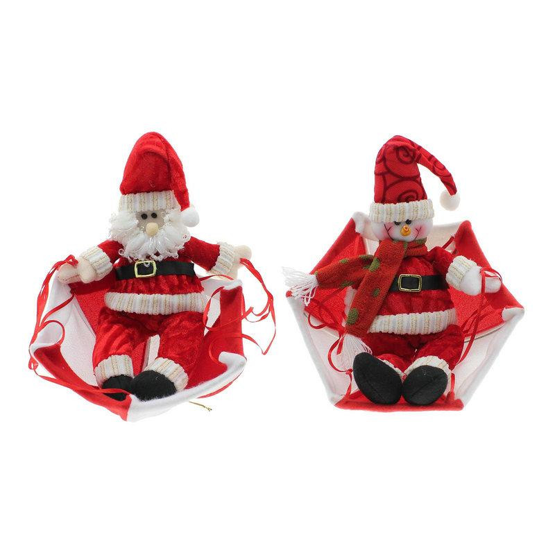 58cm wholesale Christmas home decorations Santa Claus atrium hanging ornament snowman parachute widget Xmas creative gifts(China (Mainland))