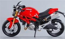 Clásica 1:12 Diecast Metal motocicletas Monster 696 Motor modelo a escala de aleación Motor Bike Kid Toys Collection