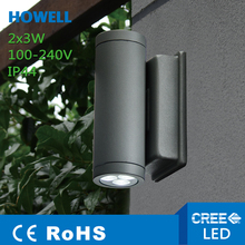 HOWELL UP DOWN LED WALL LIGHTS CREE LED High Powered Super Bright Patio Deck Yard Garden Home Porch CE RoHS(China (Mainland))