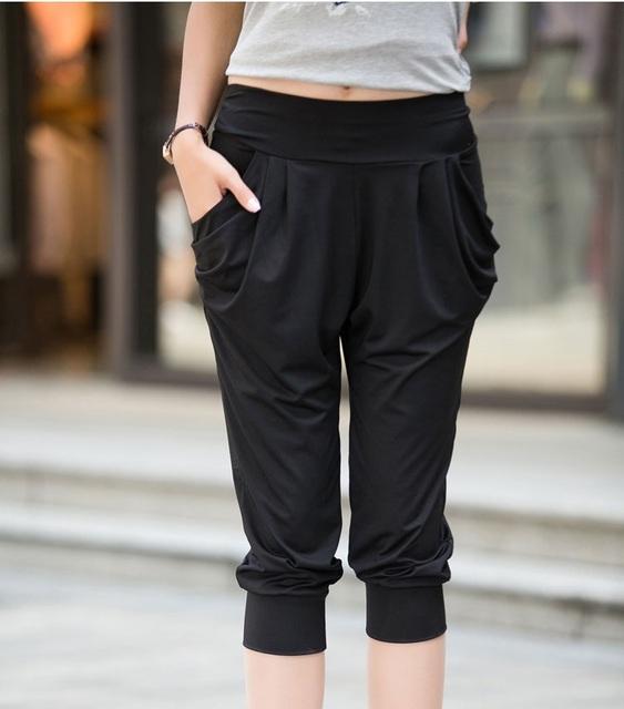 Летом стиль Топы большой размер 4xl 5xl 6XL брюки плюс размер удобрений значительно ...
