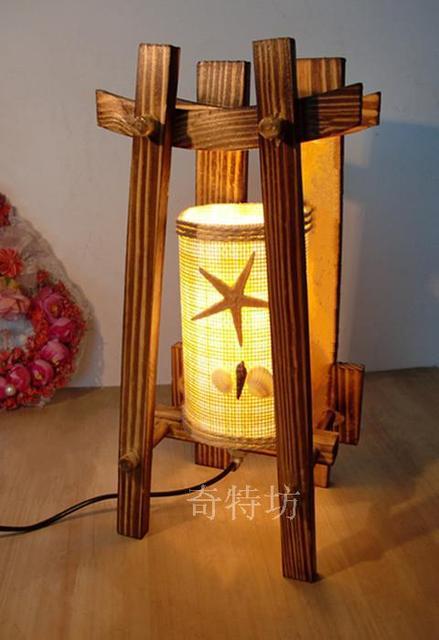 Schlafzimmer Nachttischlampen : Holzscheite schlafzimmer nachttischlampen kreative schreiblicht holz