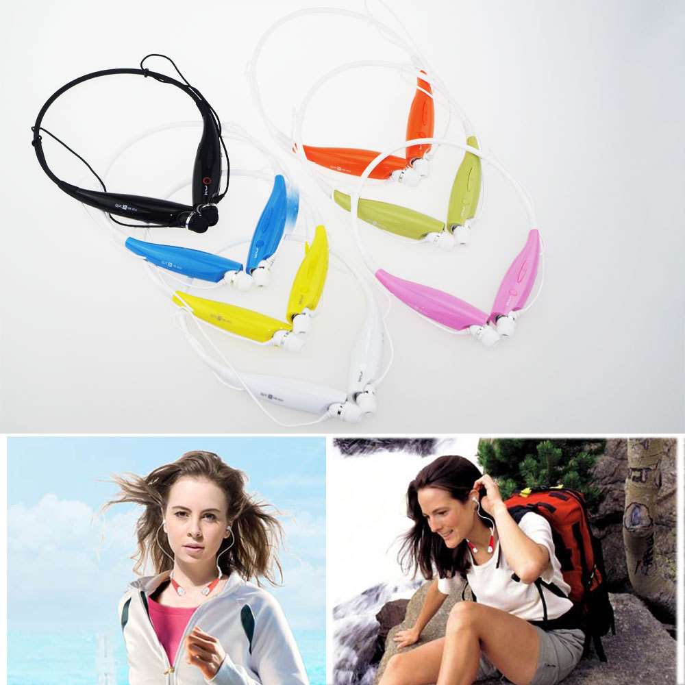 Universal Wireless Blutooth Sport Stereo Headset Headphone Neckband Handsfree Earphone with Microphone For iphone Samsung HTC(China (Mainland))