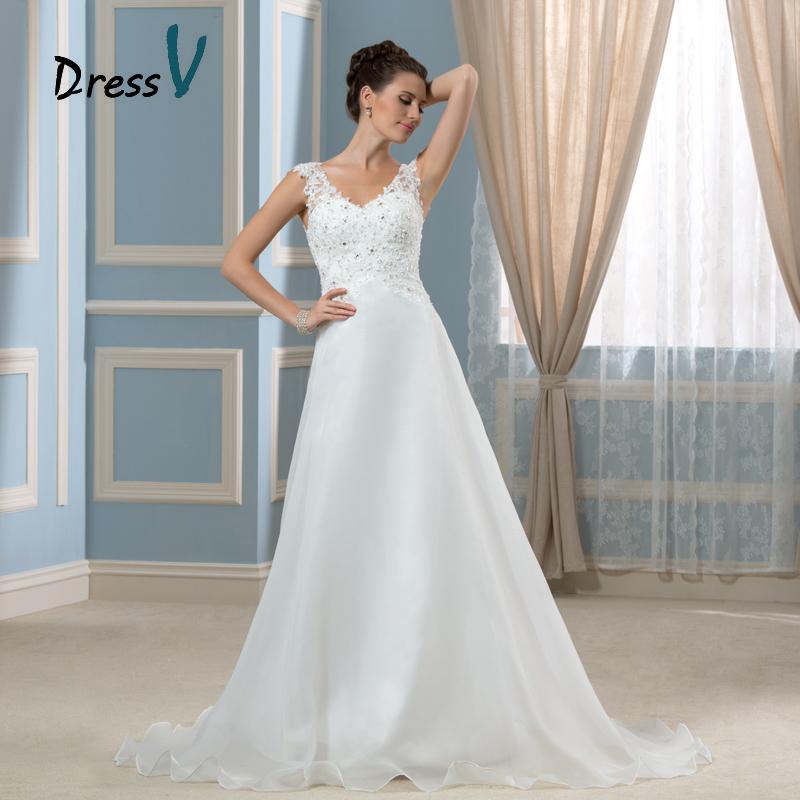 2016 gorgeous white beach wedding dresses sheer v neck for Gorgeous beach wedding dresses