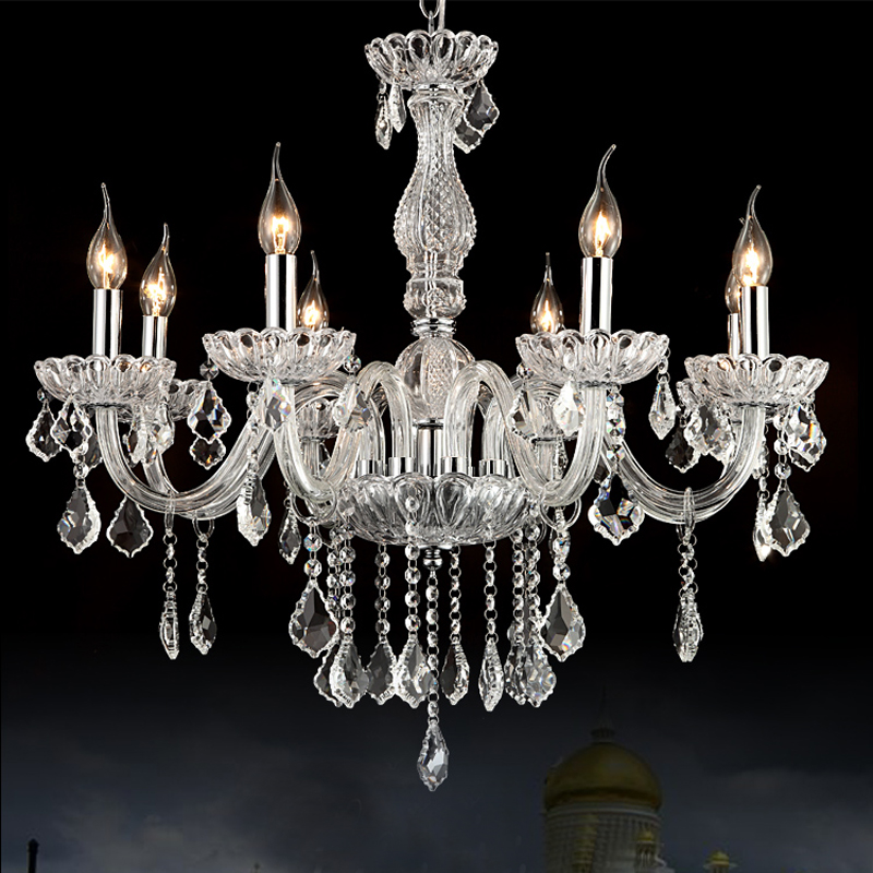 Bohemian crystal Chandelier pendant,glass candle chandelier lighting  8lights<br><br>Aliexpress
