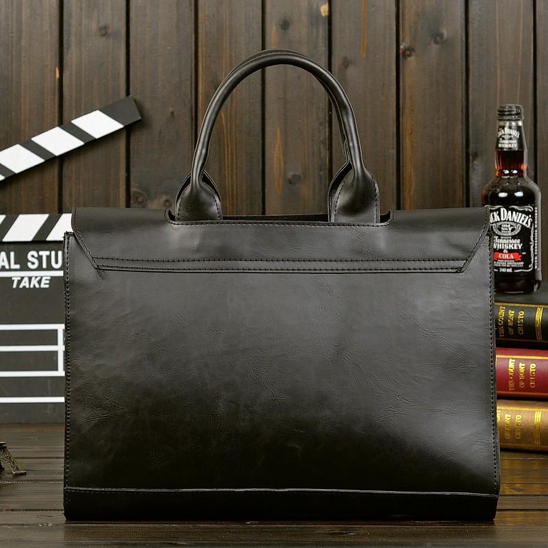 Vintage Men Business Faux PU Leather Briefcase Male Travel Causal Messenger Shoulder Portfolio Laptop Bags Lawer Handbag Bolsa (8)