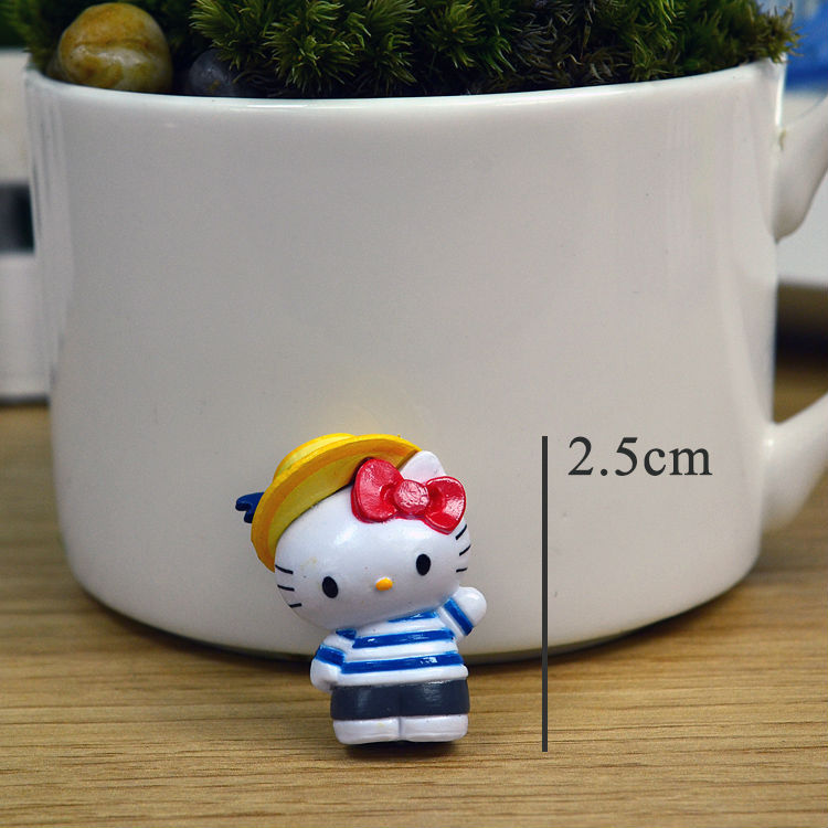 Succulent Pot Decorative Furnishing Articles Cute Hello Kitty Resin Figurines Doll Mini Micro Landscape Accessories(China (Mainland))