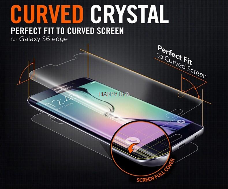 For S6 edge Ultra Thin HD Clear Screen Protector FULL Cover Protective Guard Film For Samsung Galaxy S6 edge with real package