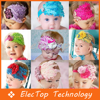 9 Styles Baby Girl Feather Headband Baby Fashion Hair Band Accessories Photography 100pcs/lot