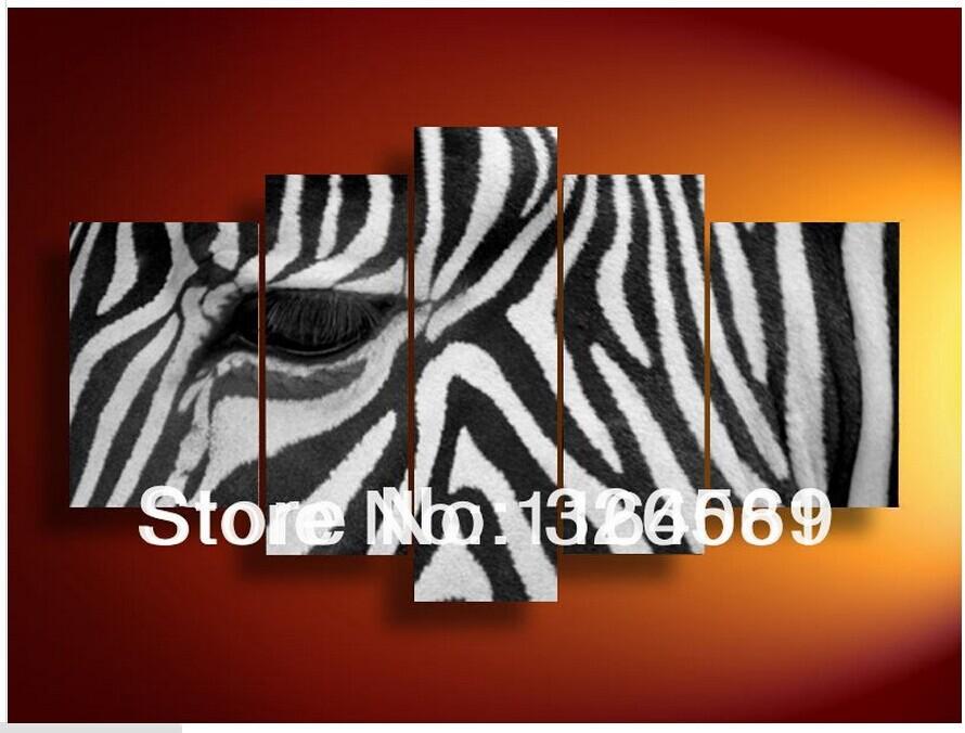 Promoci n de pinturas de cebras compra pinturas de - Cuadros de cebras ...