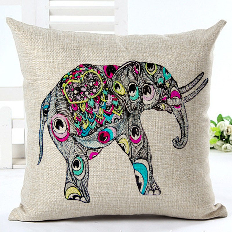 2016 hot sale pillow cover pure cotton linen home bed for Decorative bed pillow case