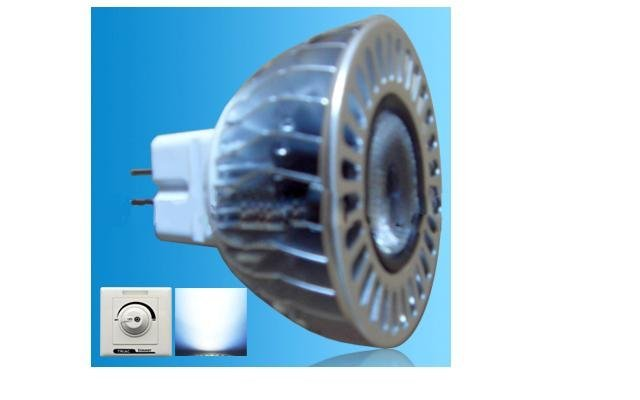 Dimmable led MR16 Spotlight;with triac dimmer;1*5W;Bridgelux Chip;CCT:2800K,4500K,6500K