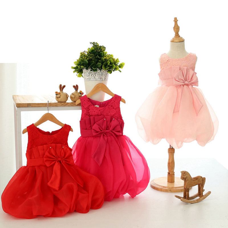 20001# 2015 2-8year new girl bow dance lace princess dress children dresses summer childhood Europe Merry Christmas dresses(China (Mainland))
