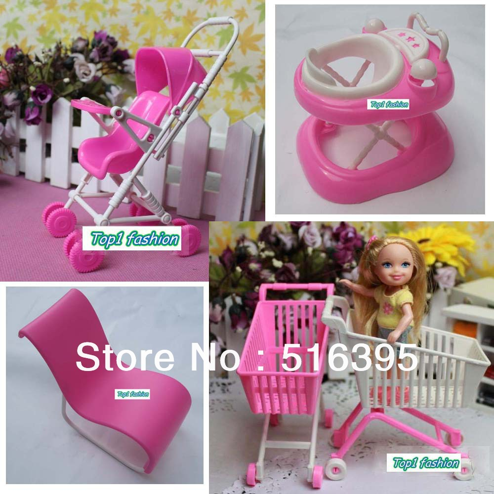 Free shipping hot sell girls birthday gift dressing table accessories for barbie doll(China (Mainland))
