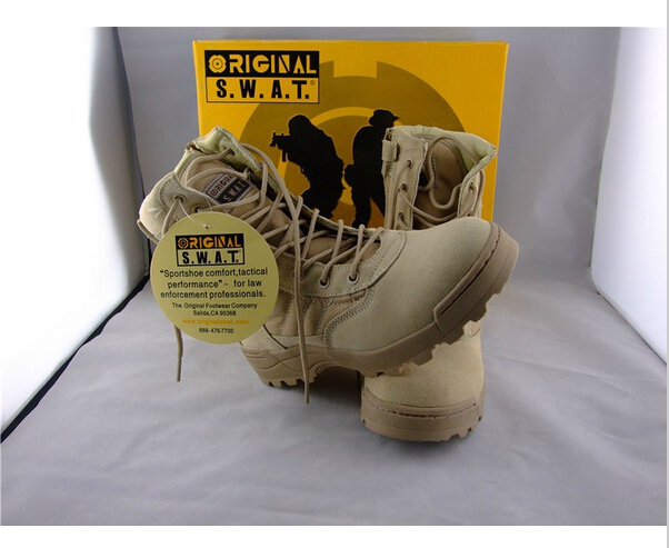 New America Sport Army Men's Tactical Boots Desert Outdoor Hiking leather Boots Military Enthusiasts Marine Male Combat Shoes(China (Mainland))