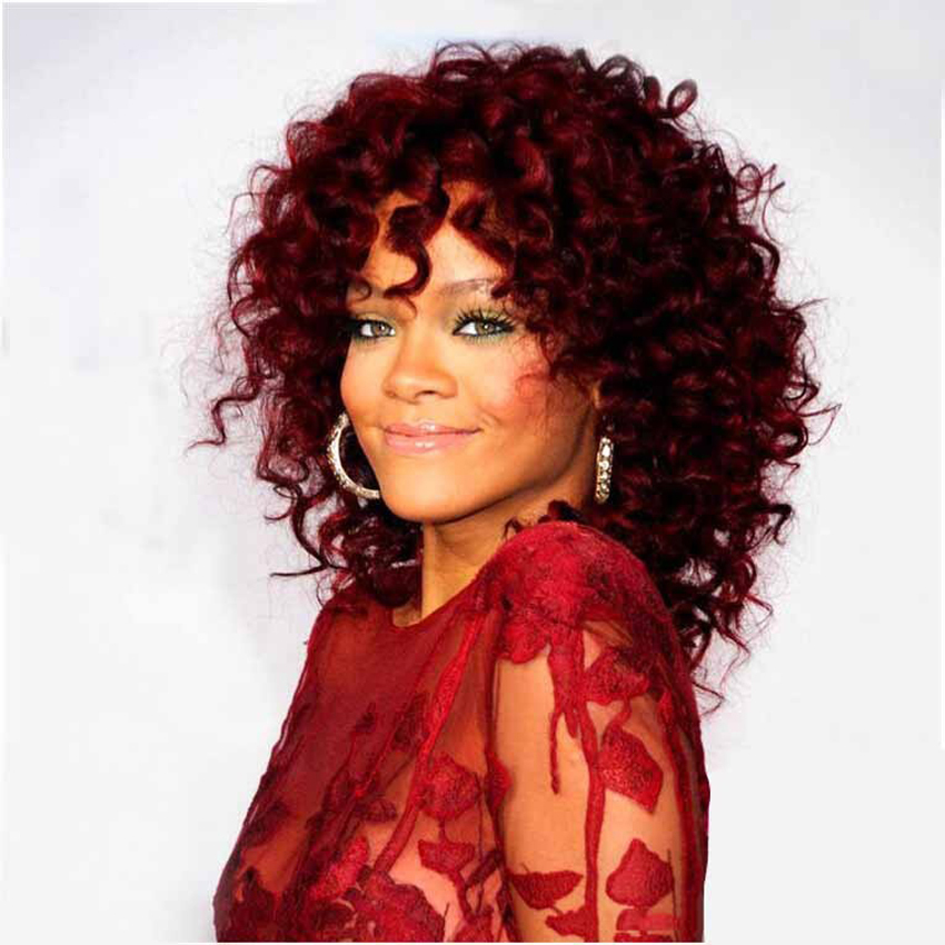 Wine Red Short Wigs 32