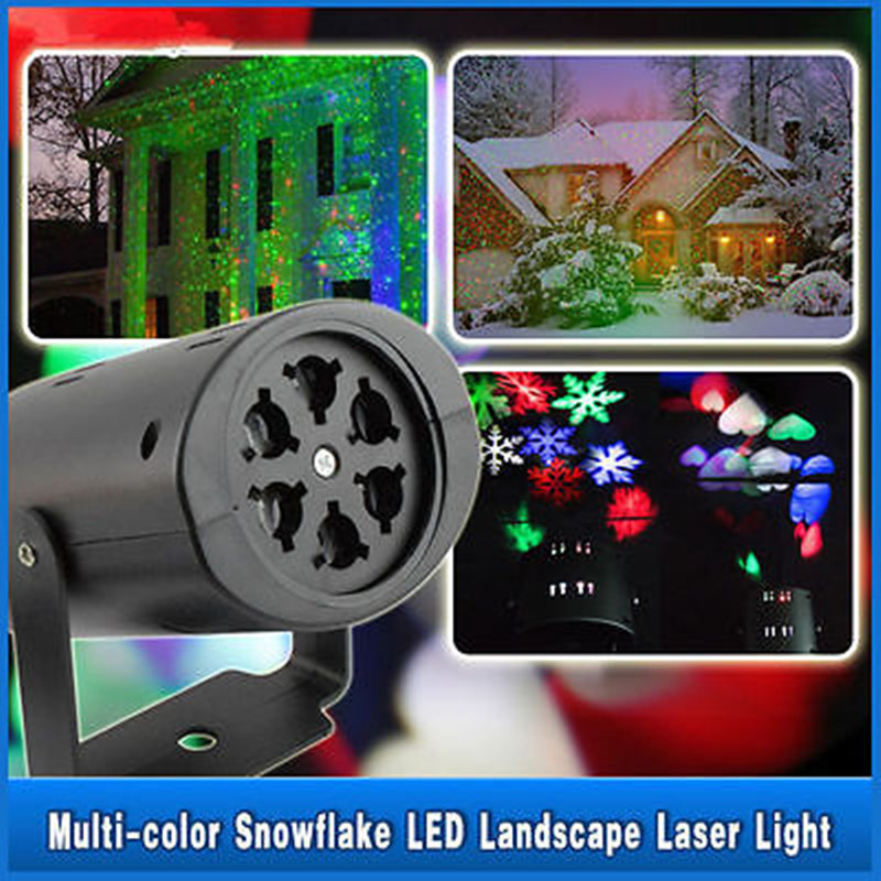 Fashion Moving LED Snowflake Landscape Lighting Laser Projector Wall Lamp Festival Party Lighting(China (Mainland))