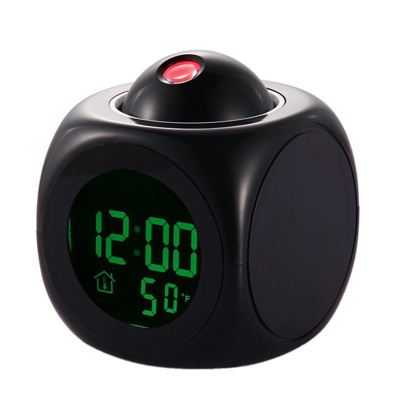 New Multifunction LCD Talking Projection Alarm Clock Time Temp Display reloj despertador FEN#(China (Mainland))