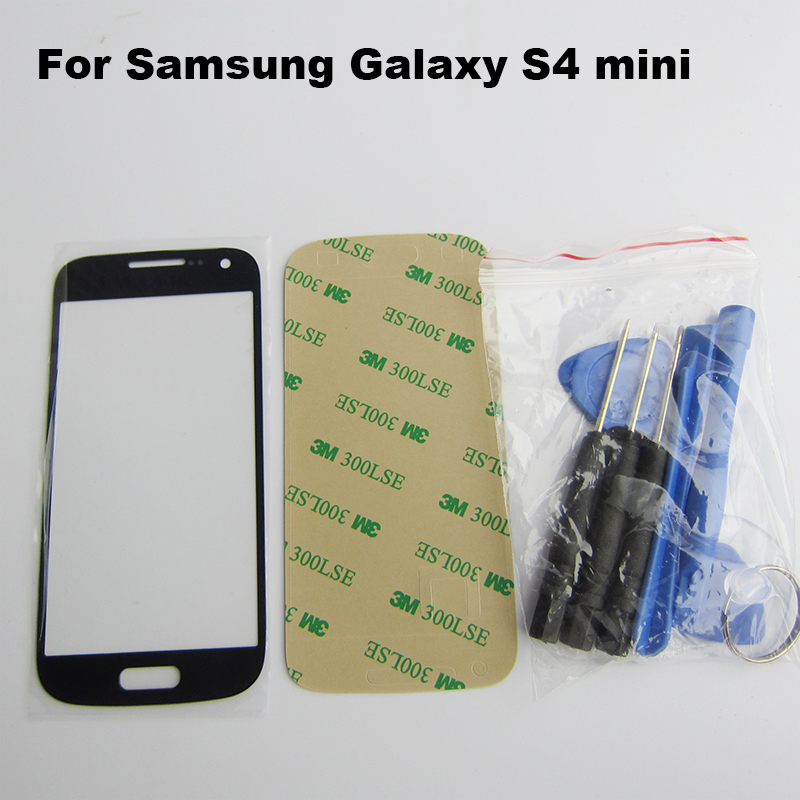 BLUE SAMSUNG GALAXY S4 MINI i9195 i9190 i435 L520 R890 WHITE DISPLAY TOUCHSCREEN REPLACEMENT KIT FRONT GLASS + tool + adhesive