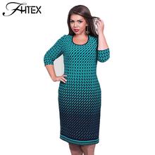 Buy 6XL Plus Size Dress Women Plaid 3/4 Sleeve Sheath Bodycon Party Dresses Elegant Big Size Casual Slim Pencil Office Midi Dress for $14.81 in AliExpress store