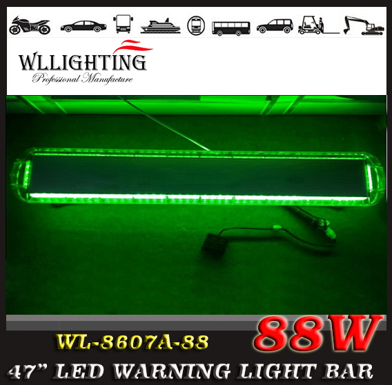 "free shipping 12V -24V 46.5"" 88 LED Emergency Recovery LightBar Wrecker Flashing LightBar Beacon Strobe Light Bar green(China (Mainland))"