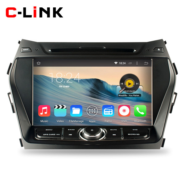 """Quad Core 1.6GHz 8"""" HD 1024*600 Android 4.4 Car DVD Video Player GPS For Hyundai IX45 Santa Fe 2013 With Radio WIFI TV 3G OBD2(China (Mainland))"""