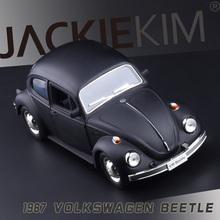 1967 Volkswagen Beetle старые фонды двойная дверь коуниверсален 1:32 сплава модели автомобилей металл литья под давлением колеса игрушечных автомобилей VW Beetle