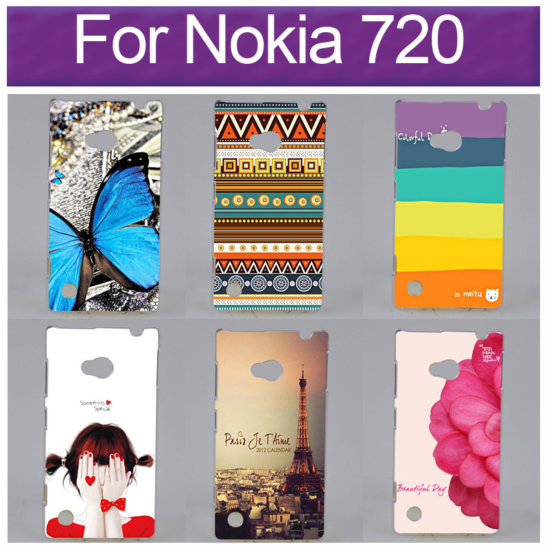 Hot Sale Printing Cover For Nokia Lumia 720 Phone cover Colored Drawing Back Case(China (Mainland))