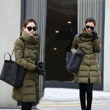Snow wear Wadded Jacket Female 2016 Casacos Feminino Winter Jacket Women Slim Long Cotton-Padded jacket Outerwear Winter Coat