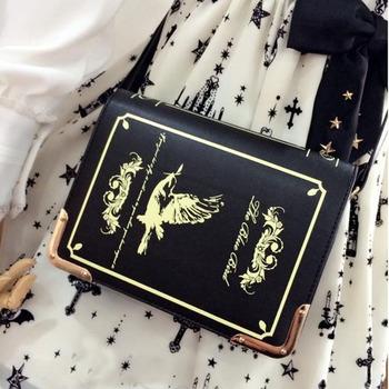 Книга форме лолита сумка женский готический мешок женщин сумки посыльного плеча crossbody сумки для женщин мешок femme болса feminina